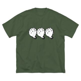 ホヤ三つですっ! Big silhouette T-shirts