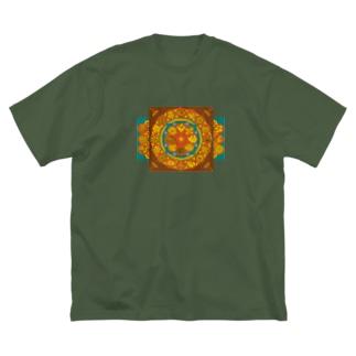 T-29 弁慶草曼荼羅 -赤- Big silhouette T-shirts