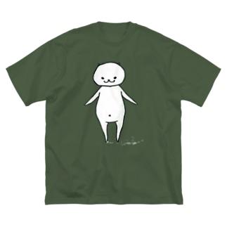猫に限りなく近いUMA Big silhouette T-shirts