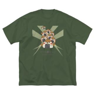 """""""すずめのおみせ"""" SUZURI店のすゞめむすび(整列color) Big silhouette T-shirts"""