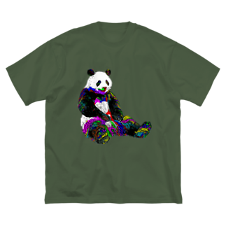 ショップ koのぱんだ Big silhouette T-shirts