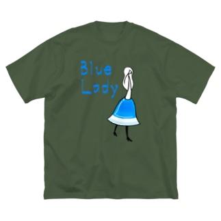 カクテル ブルーレディ Big silhouette T-shirts