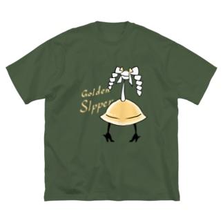 カクテル ゴールデンスリッパー Big silhouette T-shirts