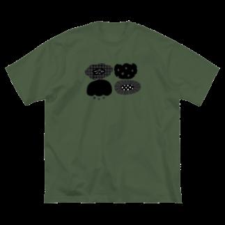 はとのみせのおはなさん Big silhouette T-shirts
