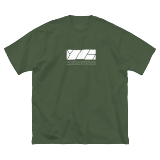 YZHモノ Big silhouette T-shirts