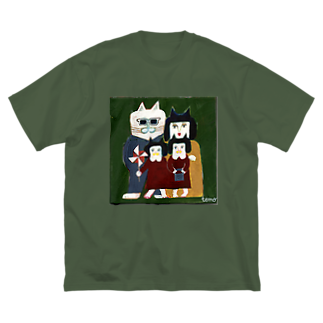 キムラトモミの家族写真 Big silhouette T-shirts