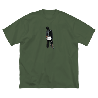 _moe0000の生産者さん Big silhouette T-shirts