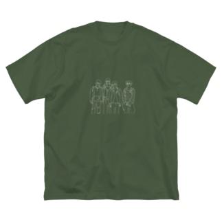 4siro Big silhouette T-shirts