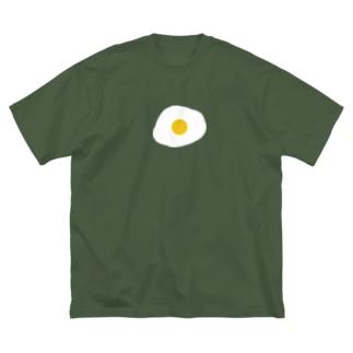 怒りのたまご Big silhouette T-shirts