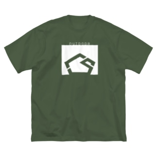 OUTDOOR Tシャツ Big silhouette T-shirts