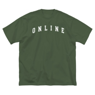 ONLINE主張 Big silhouette T-shirts
