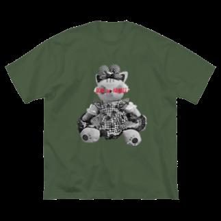 有坂愛海ショップのDEAD or KAWAIIレッド Big silhouette T-shirts