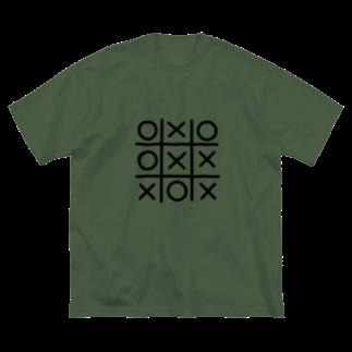 コムギショップの丸バツ Big silhouette T-shirts