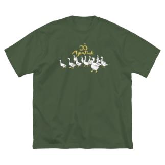 MyanDuck_B Big silhouette T-shirts