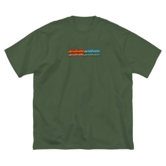 ABUNAI FUSERO.block Big silhouette T-shirts
