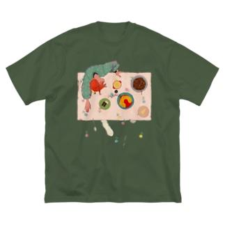 いとおしい食卓 Big silhouette T-shirts