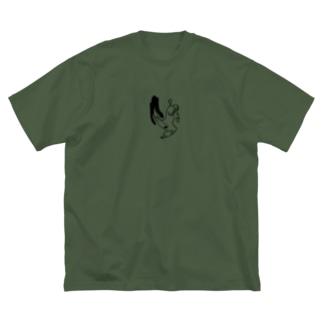 旋回するいぬ Big silhouette T-shirts