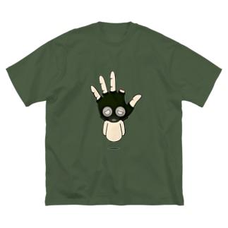 ガスマスクつけてみました Big silhouette T-shirts