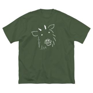 山の仲間、カモシカ Big silhouette T-shirts