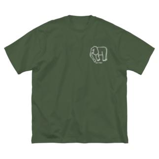 Creative store Mのsurreal_06(WT) Big Silhouette T-Shirt