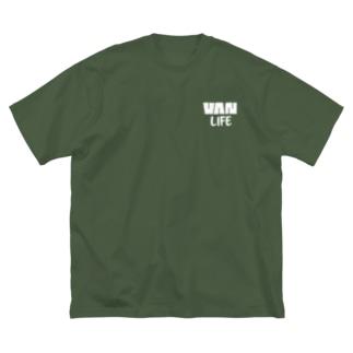 バンライフ(ホワイト) Big silhouette T-shirts