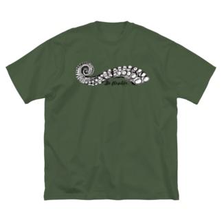 タコ触手 Big silhouette T-shirts