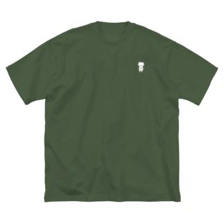 照れねこさん Big silhouette T-shirts