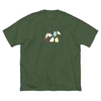 鳥のなる木 Big silhouette T-shirts