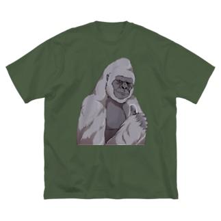 いいね!ゴリラ Big silhouette T-shirts