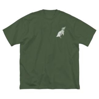 フンボルトペンギン白+ Big silhouette T-shirts