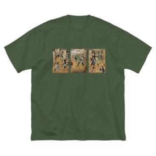 廓通色々 Big silhouette T-shirts