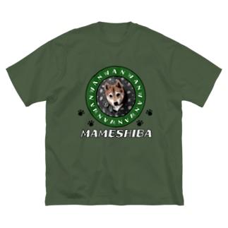 豆柴やってます🐕 Big silhouette T-shirts