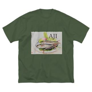 スタイリッシュ AJI Big silhouette T-shirts