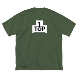 TOP-WHITE(フロントのみ) Big silhouette T-shirts