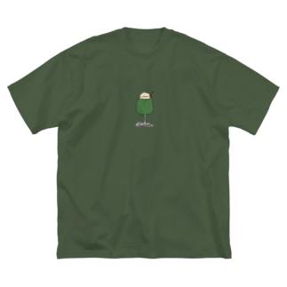 メロンフロート Big silhouette T-shirts