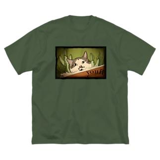 okappa-cat Big silhouette T-shirts