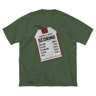 スコア・タグ Big silhouette T-shirts