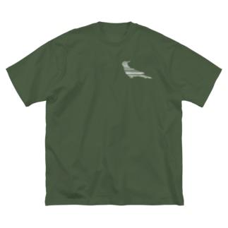 オカメインコ白+ Big silhouette T-shirts