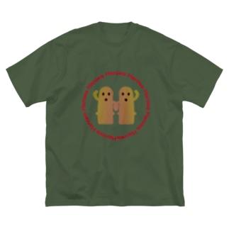 なかよし☆はにちゃんず Big silhouette T-shirts