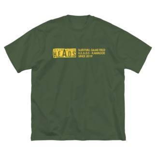 H.E.A.D.S ロゴ Big T-shirts