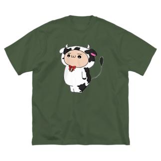 小みる (カラー) Big silhouette T-shirts