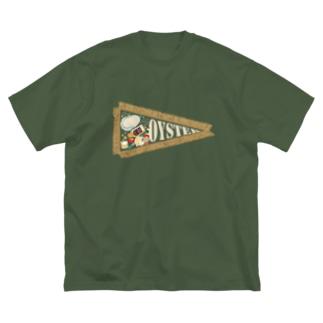 牡蠣好き用ペナント Big silhouette T-shirts