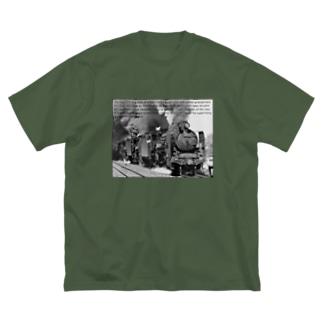 D51形蒸気機関車1号機を先頭とする三重連 (モノクロフォト) Big Silhouette T-Shirt