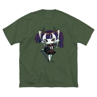 丑三つ日寺ちゃん Big silhouette T-shirts