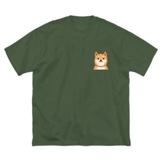 いつもいっしょ(赤柴) Big silhouette T-shirts