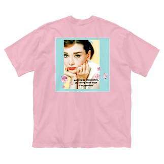 オードリーヘップバーン Big silhouette T-shirts