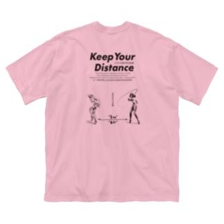 濃厚接触禁止 Big silhouette T-shirts