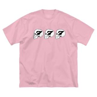スリーセブンスカル Big silhouette T-shirts