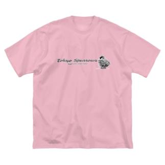 東京すずめ(おチリ) Big silhouette T-shirts
