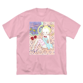 Cherry  Bomb Big silhouette T-shirts